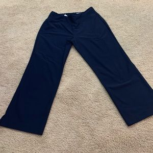 LUCY VITAL CAPRI CROP YOGA PANT NAVY BLUE SMALL